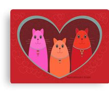 Three Wishes For Valentine's Day Canvas Print