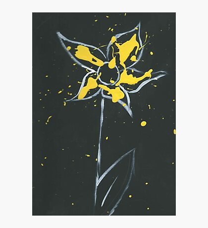 Yellow Paint Photographic Print
