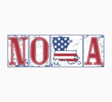Red White & Blue NOLA Street Tiles by StudioBlack