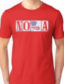 Red White & Blue NOLA Street Tiles Unisex T-Shirt