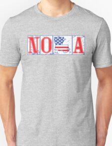 Red White & Blue NOLA Street Tiles Unisex T-Shirt
