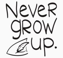 Never Grow Up One Piece - Short Sleeve