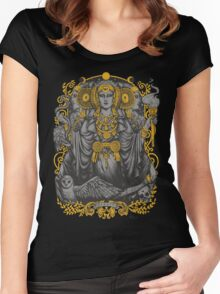 Iberian Hecate Gray Women's Fitted Scoop T-Shirt