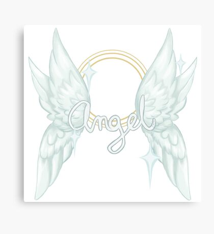 ANGEL TEXT Canvas Print