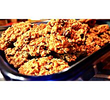 Oatmeal Cookies with Chocolate Chips Photographic Print
