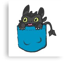 Toothless Frocket Canvas Print