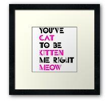 You've got to be kitten me Framed Print