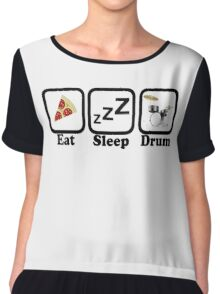 Eat Sleep Drum Chiffon Top