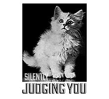 Kitty is silently judging you Photographic Print