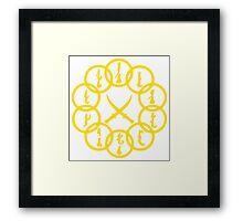 10 Rings Gold Framed Print