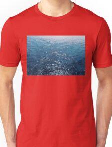 Wavy Blue Sea Water Twinkling under Summer Sun Unisex T-Shirt