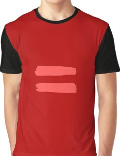 Red & Pink Equality Stickers Graphic T-Shirt