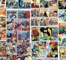 Comics vintage marvel and dc comics Sticker