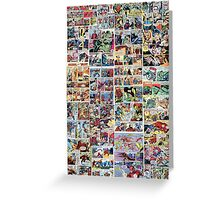 Comics vintage marvel and dc comics Greeting Card