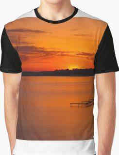 """Grand Traverse Sunrise""  Graphic T-Shirt"