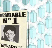 Undesirable No 1 - Milk Carton Sticker