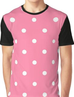 Pink White Polka Dots Graphic T-Shirt