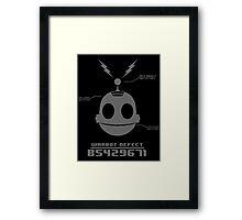 CLANK (ROBOT DEFECT B5429671) Framed Print