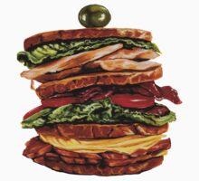 Turkey Club on Rye Sandwich Kids Tee