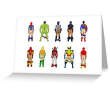 Superhero Butts Greeting Card