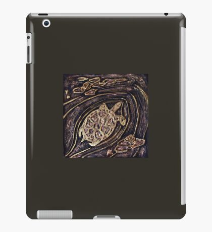 Turtle Bas Relief Gold iPad Case/Skin
