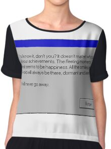 Nihilism Vaporwave Error Message  Chiffon Top