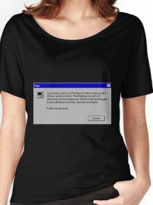 Nihilism Vaporwave Error Message  Women's Relaxed Fit T-Shirt