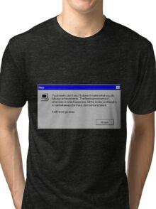 Nihilism Vaporwave Error Message  Tri-blend T-Shirt