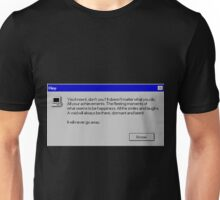 Nihilism Vaporwave Error Message  Unisex T-Shirt