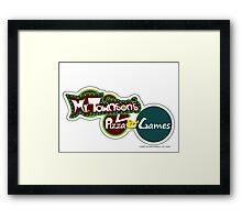 Mr. Townson's Pizza & Games Framed Print