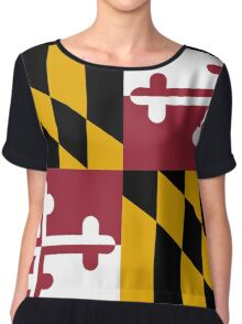 Maryland USA State Flag Baltimore Annapolis Duvet Cover T-Shirt Sticker Chiffon Top
