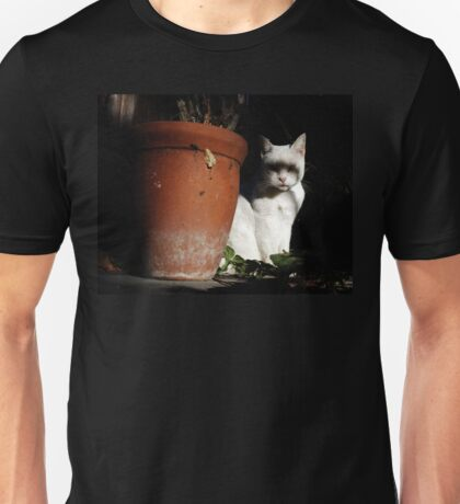 Creepy White Cat Unisex T-Shirt