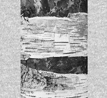 Broken Birch Bark in Cracks Texture, black & white  Tank Top