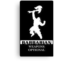 Barbarian Inverted Canvas Print