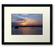 Contrail glory Framed Print