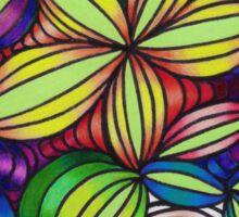 Colorful op art Sticker