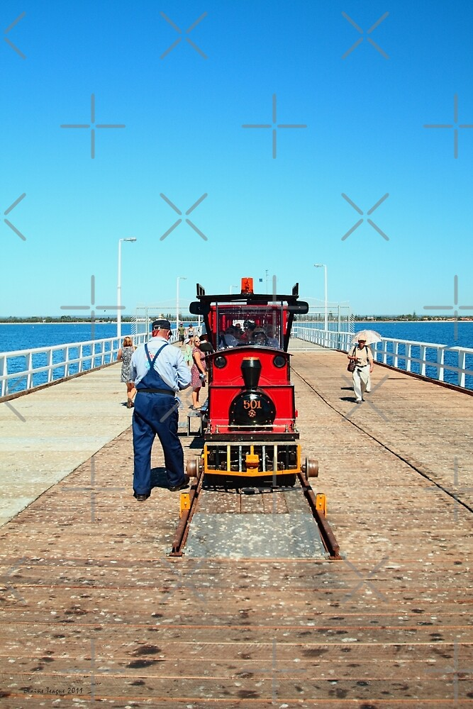 Jetty Train, Busselton, Western Australia by Elaine Teague