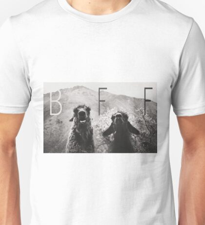 Best Friends Forever, Llama style Unisex T-Shirt