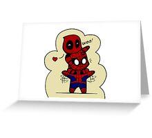Deadpool & Spiderman Greeting Card
