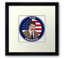Ron Swanson - Parks and Rec Framed Print