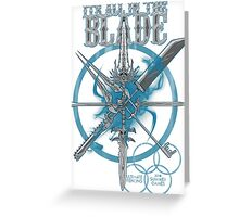 Blade sword Greeting Card
