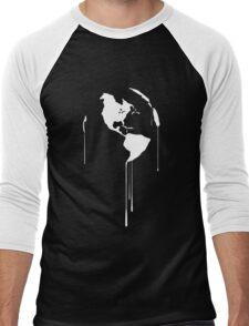 Splatter Earth 1 (white) Men's Baseball ¾ T-Shirt