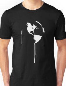 Splatter Earth 1 (white) Unisex T-Shirt