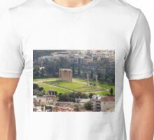 View of The Temple of the Olympian Zeus from the Acropolis Unisex T-Shirt