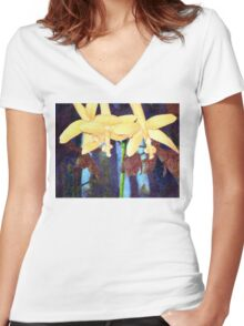 From the Orchid House 4 Women's Fitted V-Neck T-Shirt