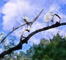 Cranes In A Tree by 2HivelysArt
