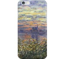 Marine View With A Sunset - Claude Monet Impressionism iPhone Case/Skin