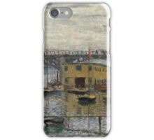 Impressionism: Claude Monet - Bridge At Argenteuil On A Gray Day 1886  iPhone Case/Skin
