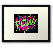 Pow!  Cartoon Sound Effect Framed Print
