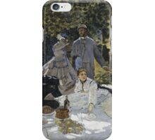 Claude Monet - Bathers At La Grenouillere 1865 iPhone Case/Skin